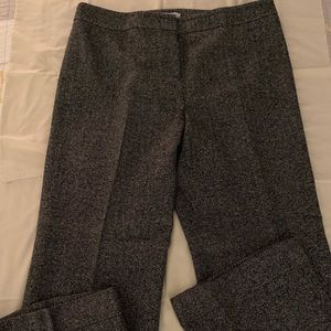 Loft Trousers Black-Off White Herring Bone 14